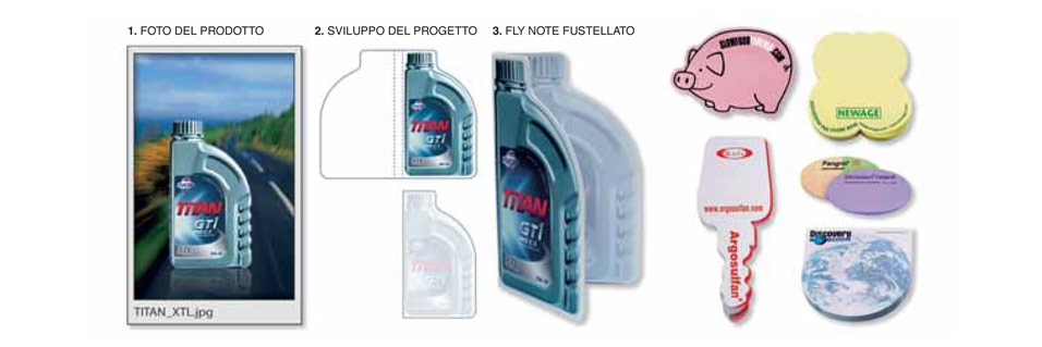 fly note fustellato